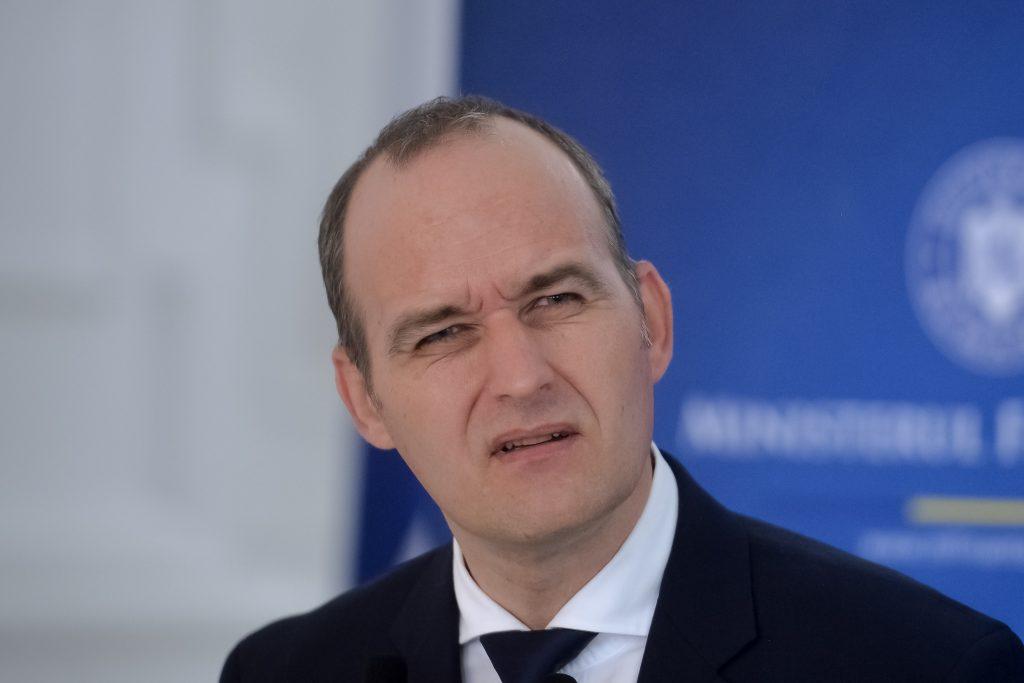 Noul ministru al Finantelor, Dan Vilceanu, sustine o conferinta la sediul ministerului din Bucuresti, marti, 24 august 2021. ALEXANDRU DOBRE / MEDIAFAX FOTO